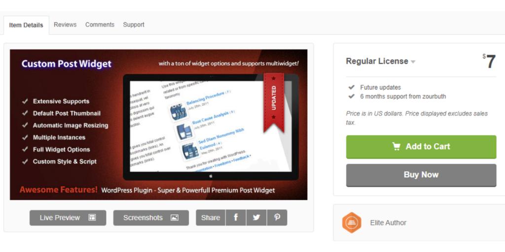 Wordpress Plugin Custom Post Widget