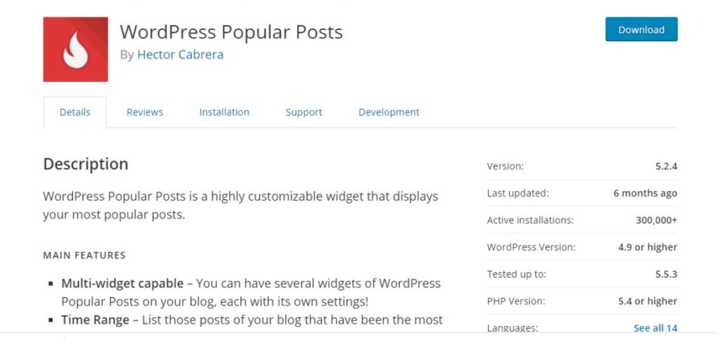WordPress Popular Posts (Free)