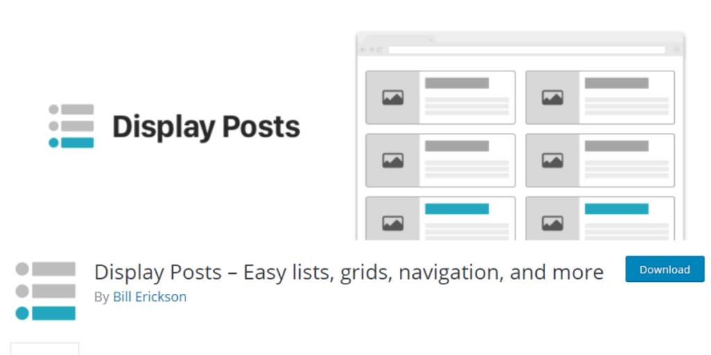 WordPress Plugin - display post