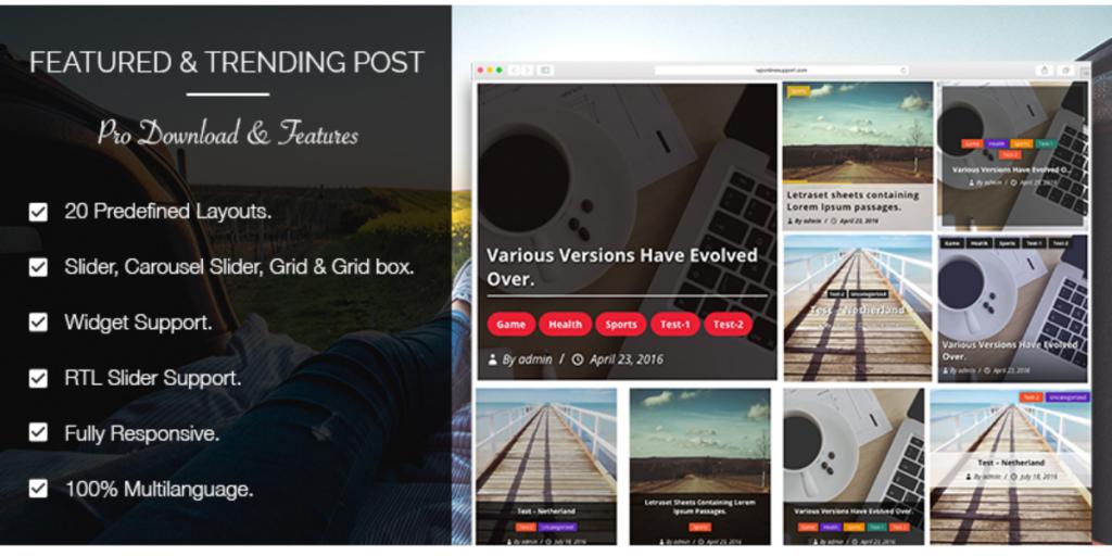 Wordpress Plugin trending post